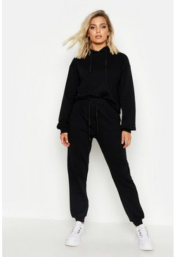 Womens Black Toggle Detail Jogger