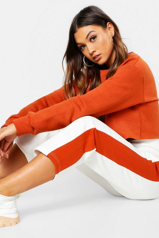Colour Block Straight Leg Jogger