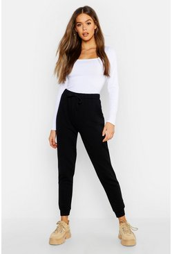 Womens Black Premium Draw Cord Oversized Jogger