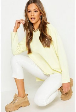 Womens Lime Faded Neon Oversized Sweat