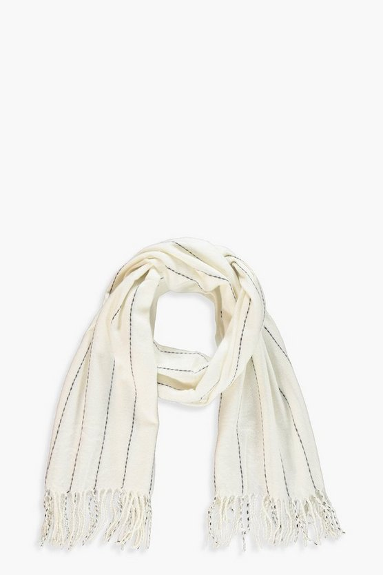 Mono Stripe Fringe Heavy Weight Scarf