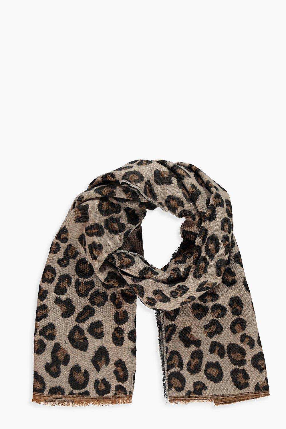 Leopard Print Heavy Weight Scarf