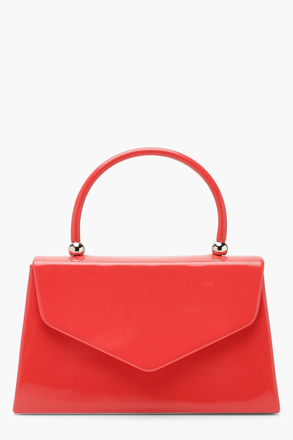 Neon Patent Small Tote Bag