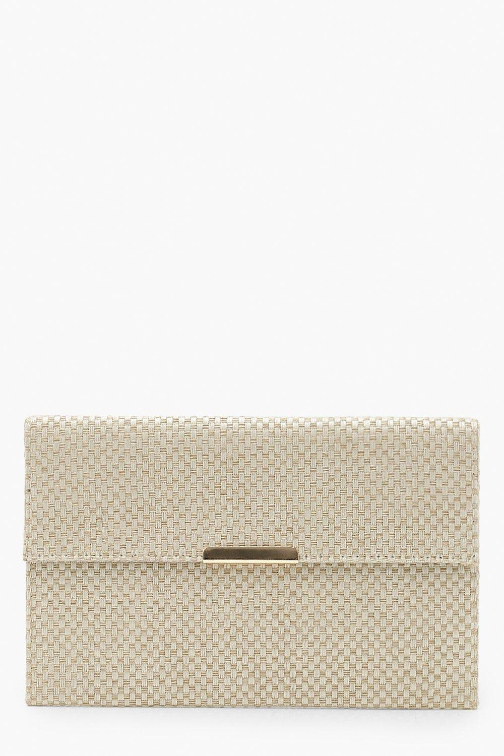 Woven Envelope Clutch with Bar