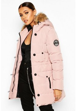 Womens Dusky pink Luxe Mountaineering Parka