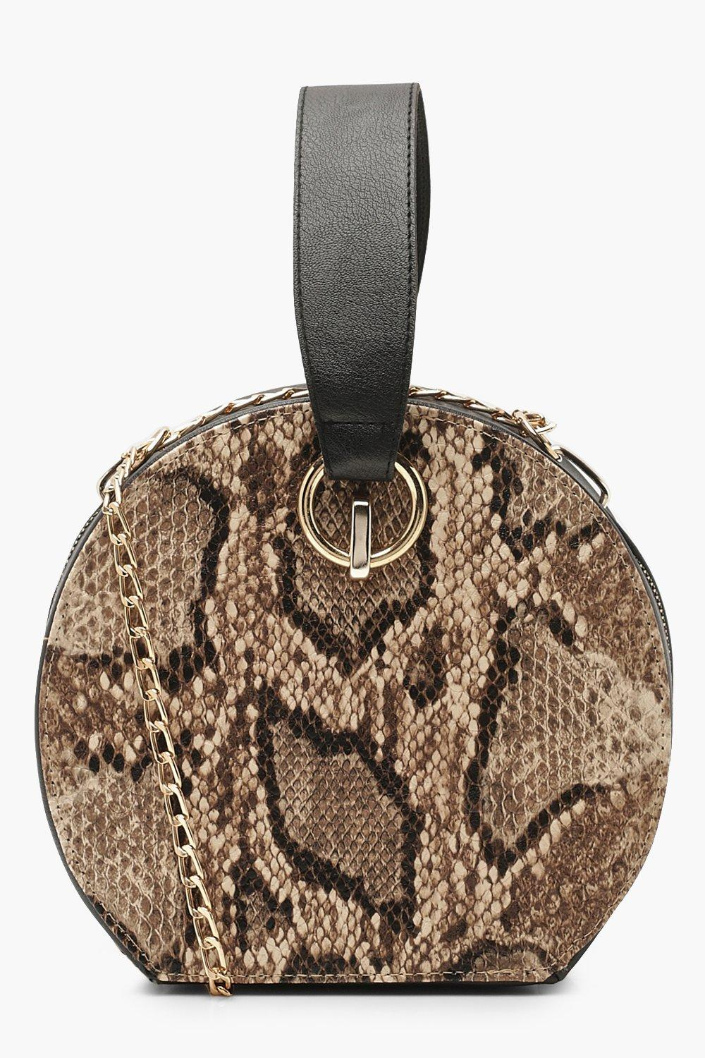 Faux Snake Handle Grab Bag