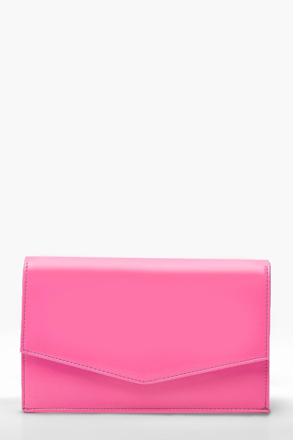 Neon Envelope Clutch & Chain