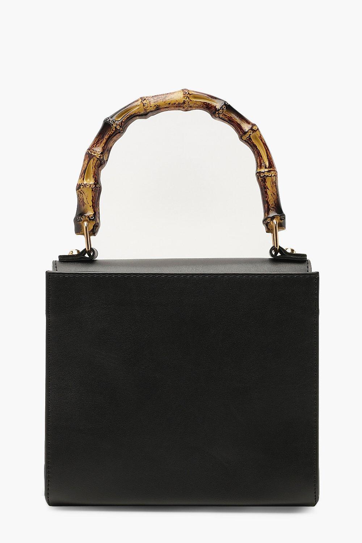 PU Bamboo Handle Grab Bag