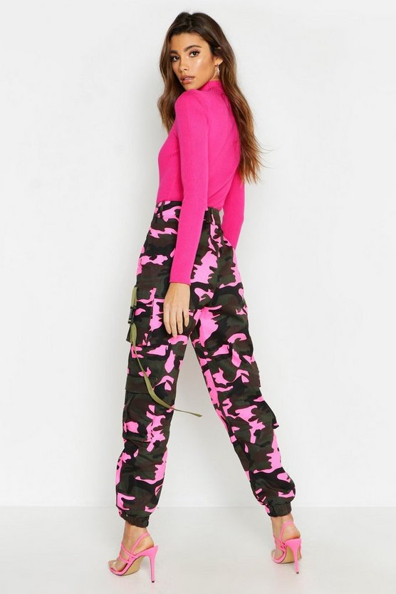 Fluroescent Camo Cargo Trousers