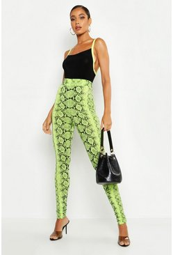 Lime Neon Snake High Waist Legging