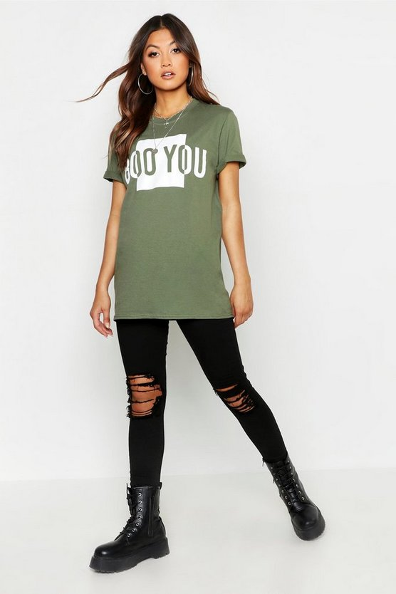 Boo You Printed T-Shirt