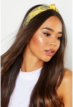 Yellow Bright Palm Knot Top Headband