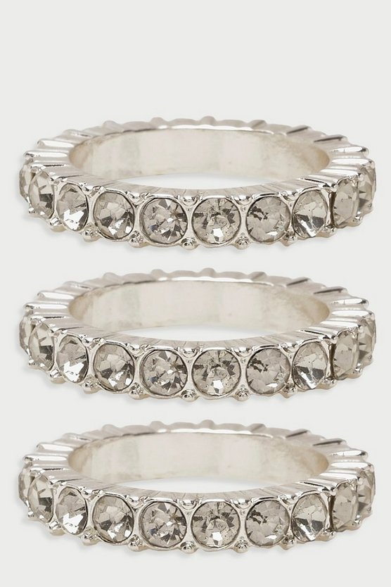 Diamante Statement Ring Pack