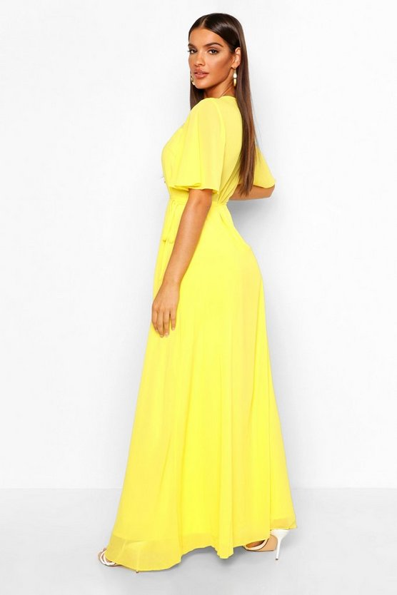 Chiffon Angel Sleeve Maxi Dress