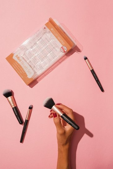 Rose gold 4 Piece Travel Brush Set