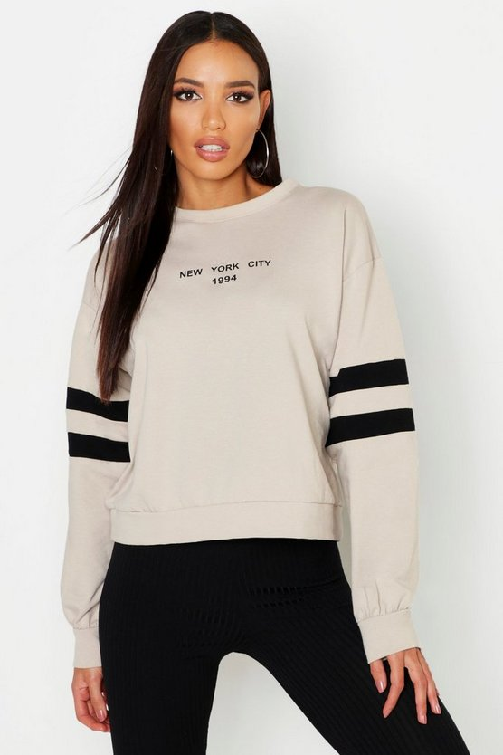 New York City Embroidered Crew Neck Sweat