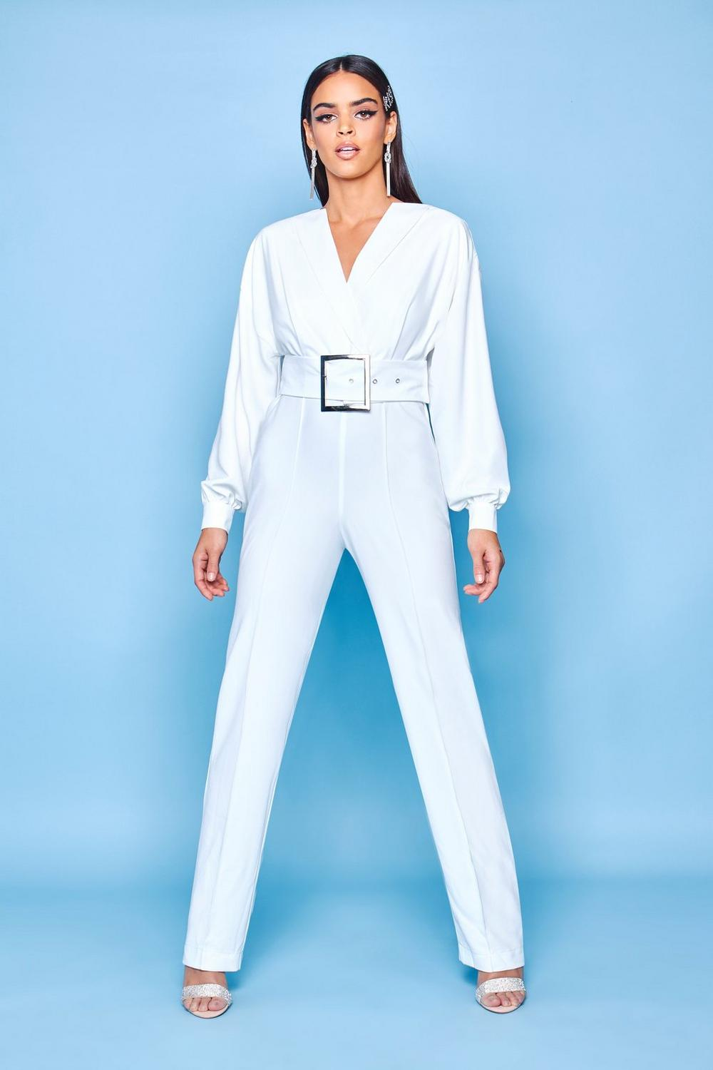 c22da4821b59 Premium Belted Tailored Jumpsuit. Hover to zoom