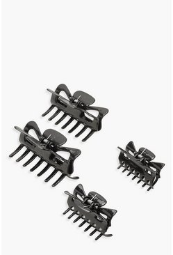 Womens Black 2 Pack Hair Clips