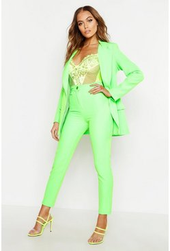 Womens Neon-green Neon Tapered Trouser