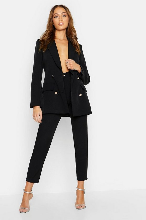 Womens Black Tailored Pants