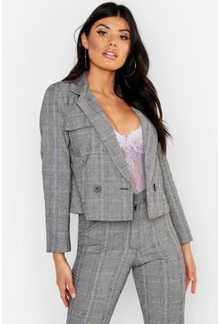 Womens Lilac Cheek Pocket Detail Blazer