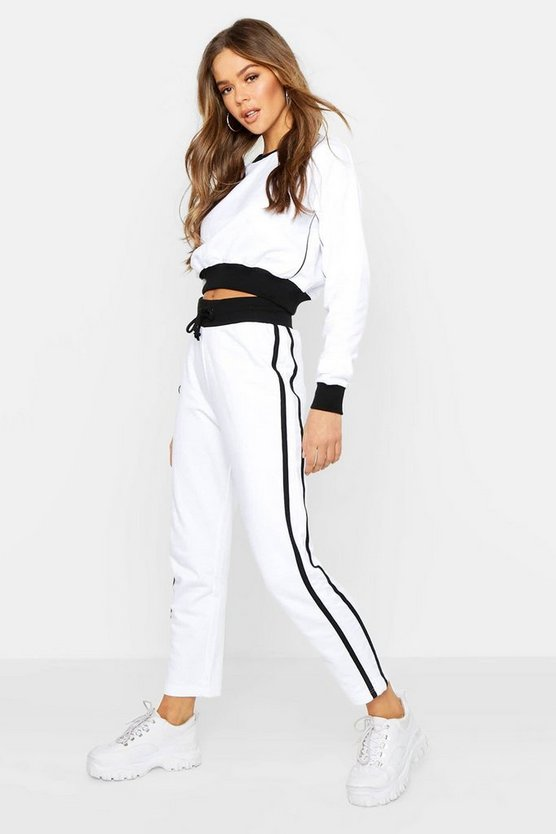 Contrast Piping Ankle Grazer Tracksuit