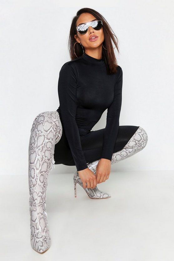 Slinky High Neck Long Sleeve Unitard