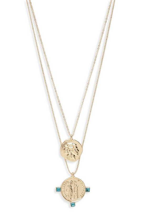 Sovereign Coin Double Layer Necklace
