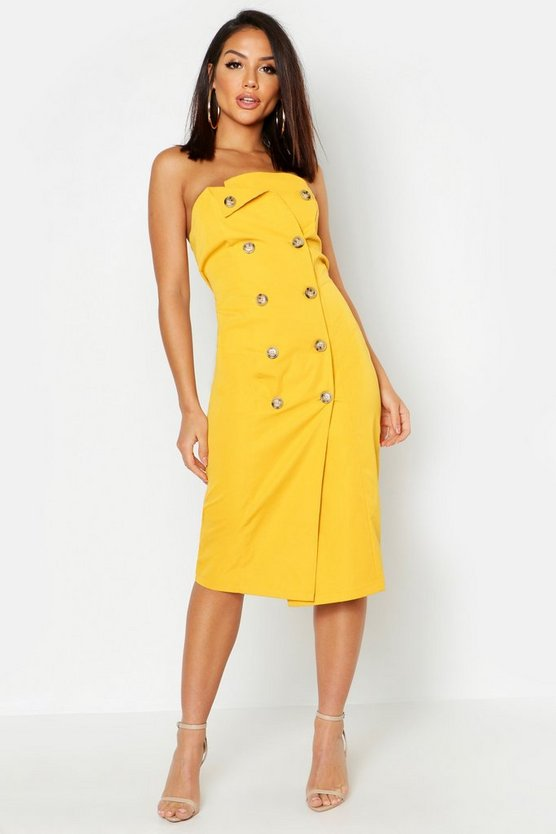 Utility Bandeau Midi Dress