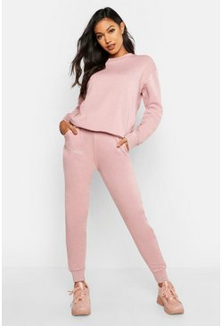 Womens Blush Bridesmaid Embroidered Jogger