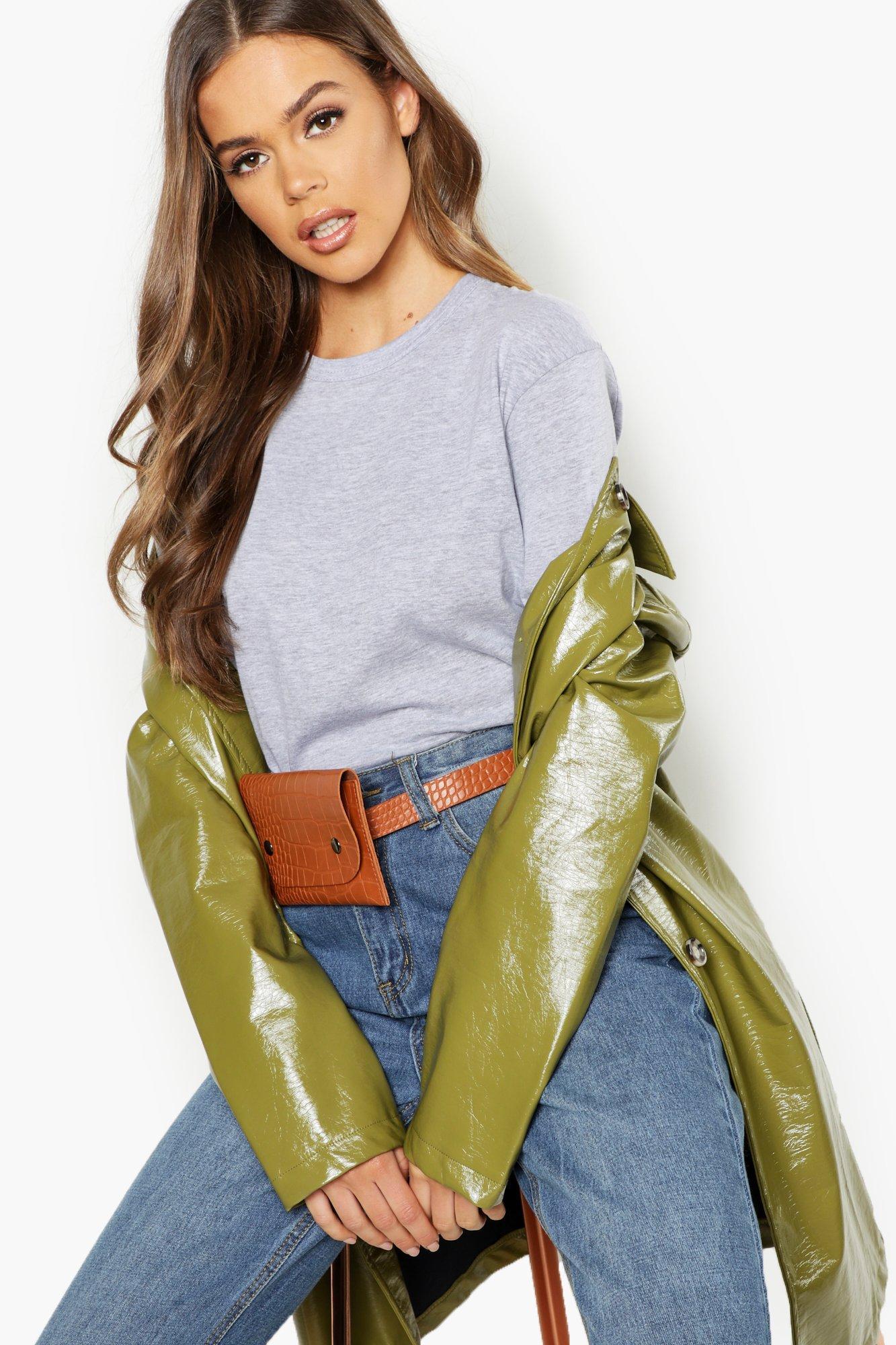 Pu Croc Belt bag