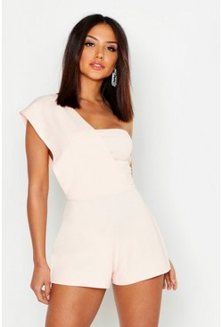 Blush One Shoulder Playsuit