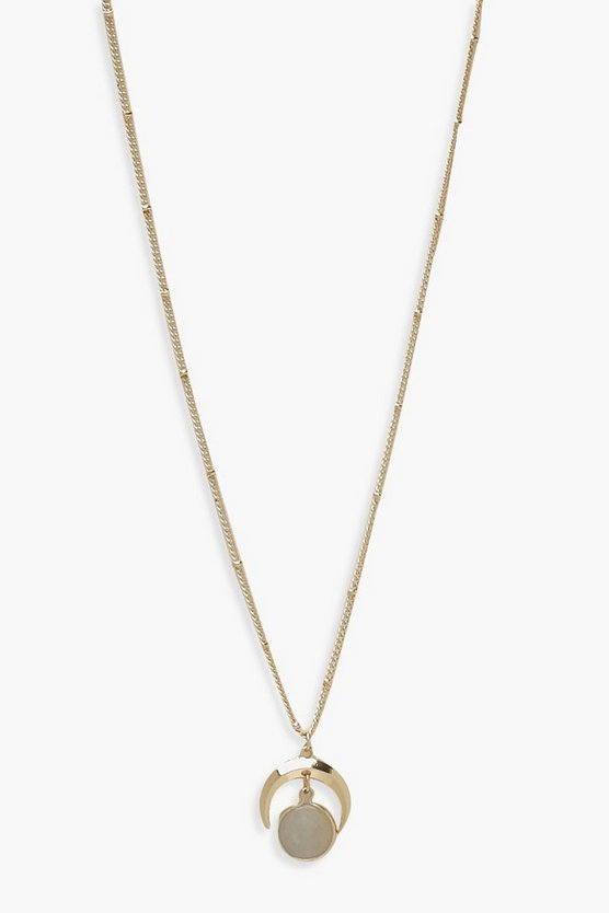 Collier pierre simple Corne