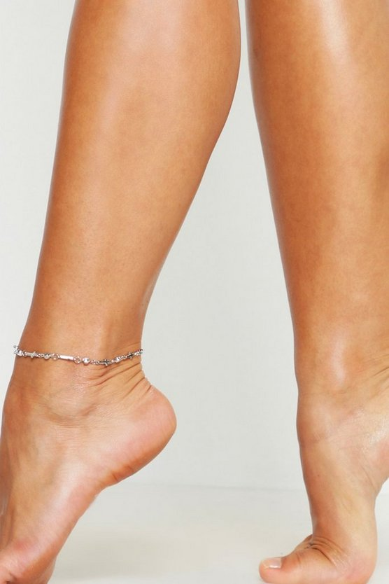 Cross Simple Anklet