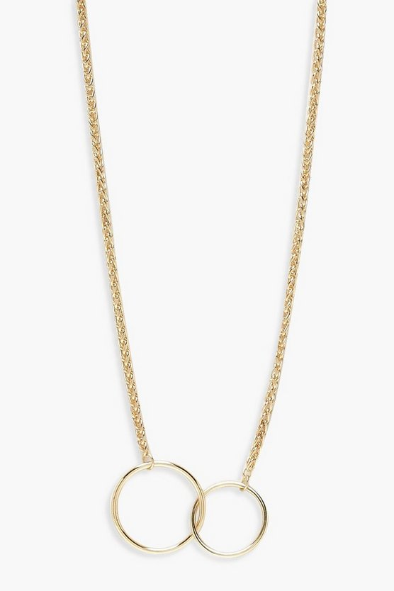 Double Linked Circle Necklace