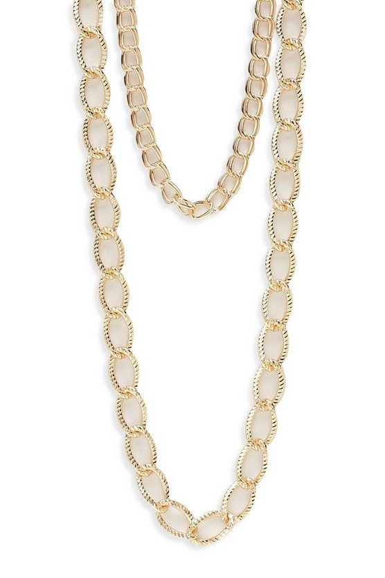 Double Layer Chunky Chain Necklace