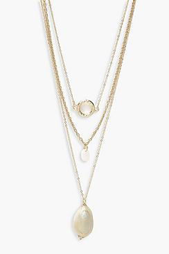 Circle & Shell Layered Necklace