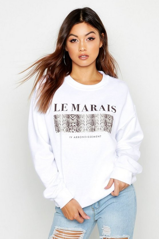 Le Marais Snake Slogan Sweat