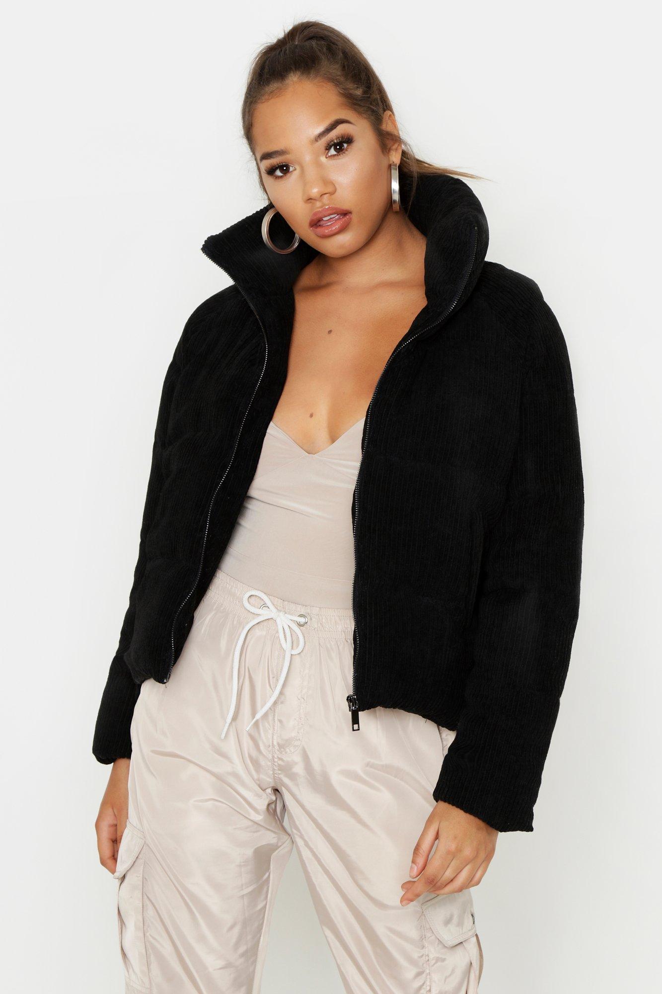 Cord Puffer Jacket