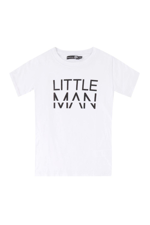 Boys Little MAN Dash T-Shirt | Boohoo