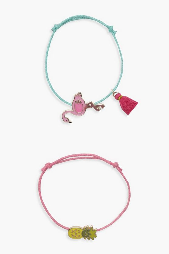 Girls 2 Pack Pineapple Bracelet