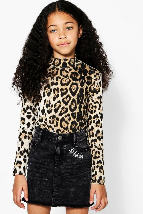 Girls Leopard Bodysuit
