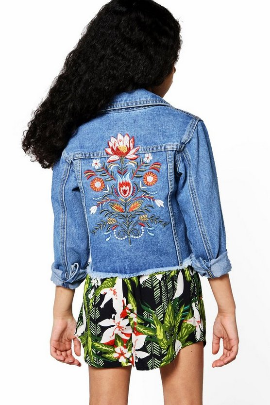Girls Artisan Embroidered Jacket
