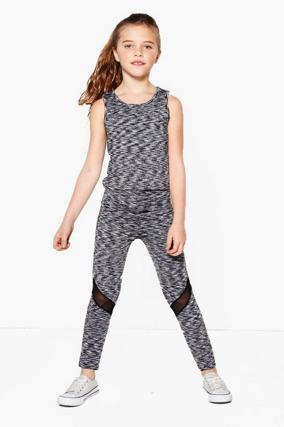 Girl Space Dye Mesh Insert Sports Set