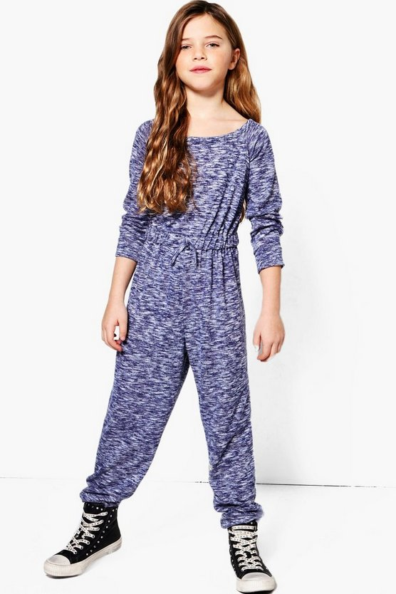 Girls Knitted Bardot Jumpsuit