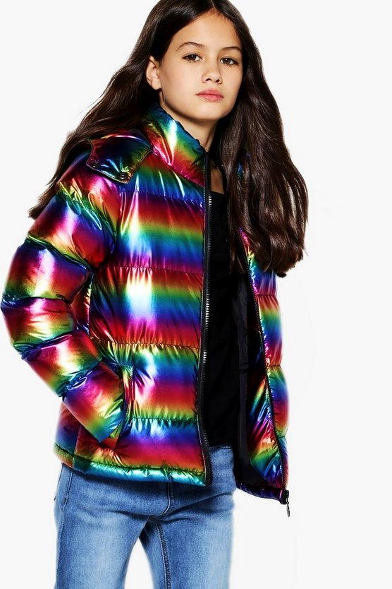 Girls Rainbow Ruffa Jacket