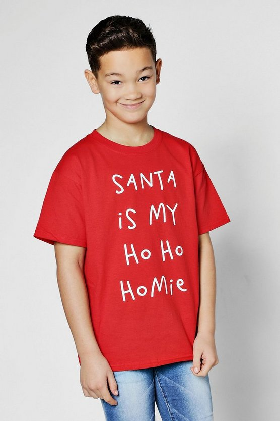 Boys Santa Christmas T-Shirt