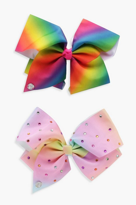 Girls JoJo Bows Rainbow 2 Pack