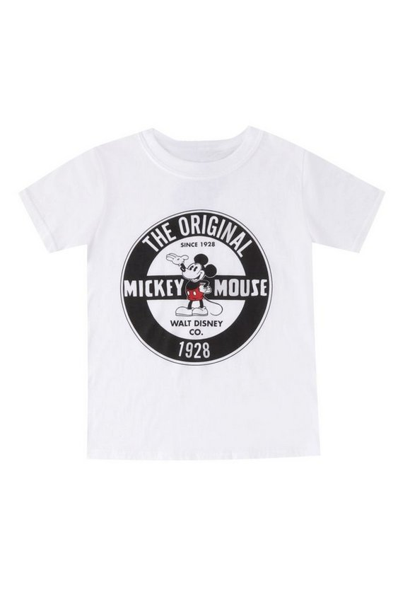 Boys Disney Original Mickey Crew Neck Tee
