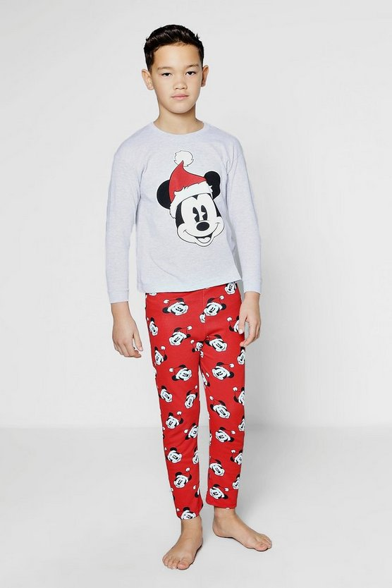 Boys Disney Mickey Christmas Pyjamas